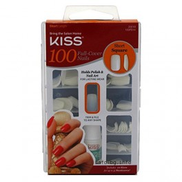 Изкуствени нокти KISS 100PS14C 100 Full Cover Nails Short Square