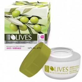 Дневен крем за лице хиалурон актив за нормална към смесена кожа Nature of Agiva Olives Day Cream