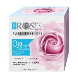 Дневен крем за лице с розово масло и Q10 Nature of Agiva Roses  Anti-Age Complex  Intenseve Day Cream  Rose Oil Q 10