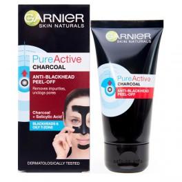 Черна отлепяща се маска за лице с активен въглен  Garnier Pure Active Charcoal Anti-Blackhead Peel-Off