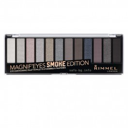 Палитра сенки за очи в 12 цвята № 003 Smoke Edition Rimmel Magnif'eyes Eyeshadow Palette