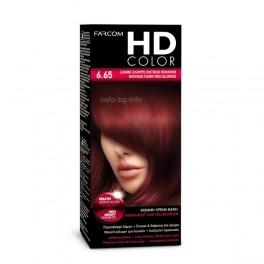 Боя за коса № 6.65 Наситено Тъмно Червено Русо Farcom HD Color Intense Dark Red Blonde