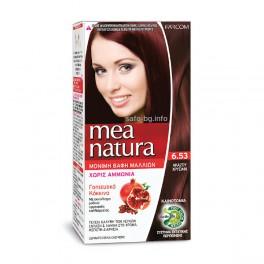 Дълготрайна боя за коса без амоняк № 6.53 Gold Mahogany Farcom Mea Natura Hair Color with organic extracts