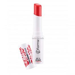 Балсам за устни със цвят Ягода Flormar Lip Balm Spf 15 Strawberry