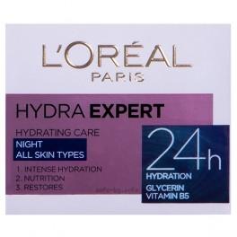 Хидратиращ нощен крем за лице за всеки тип кожа Лореал Hydra Expert 24h Night Cream